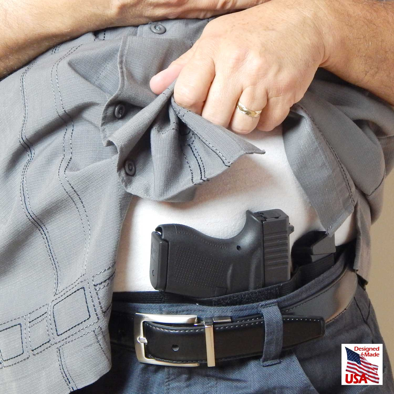 Belly Band Concealed Carry Gun Holster - Defender