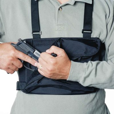 Concealed carry gun chest holster chest pack hands-free front pack for hiking hunting backpacking