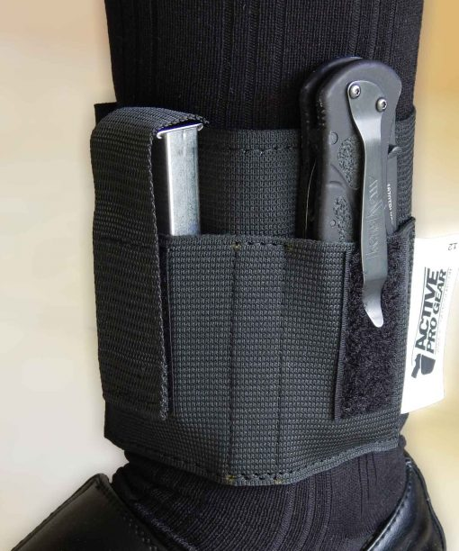 Model 12 Ankle Magazine/Tool Carrier with Folding Knife