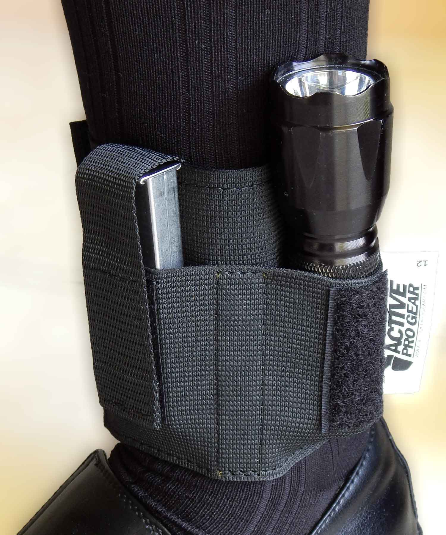 Model 12 Ankle Magazine/Tool Carrier with Flashlight