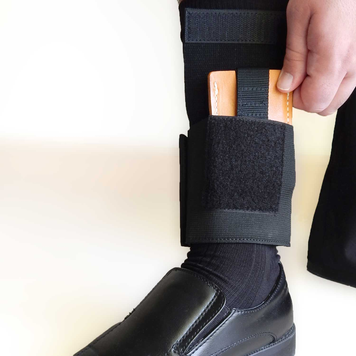 Model 13 Ankle Safe. Carry, completely concealed, your valuables in safety and comfort