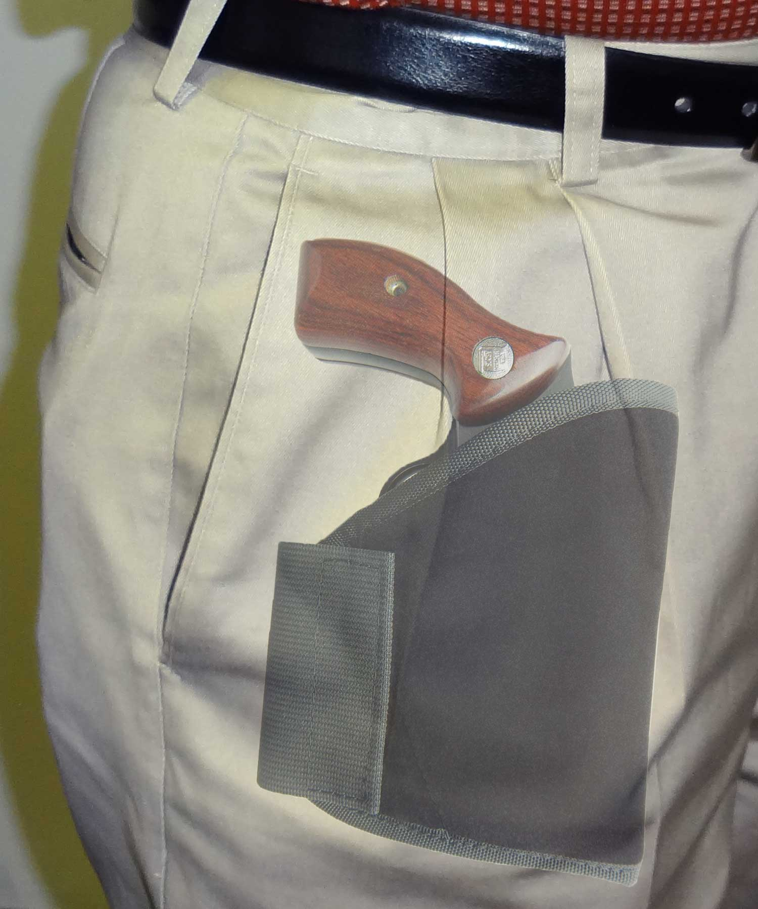 Concealment Pocket Holster with Extra Ammo