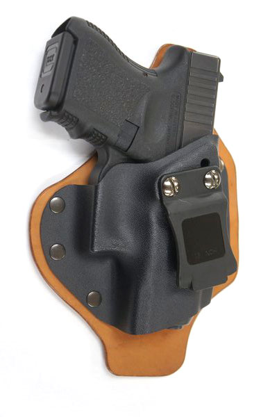 Single Clip IWB Hybrid Kydex Leather Holster