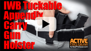 Model 73 IWB Tuckable Appendix Carry Gun Holster with Spare Magazine-Video
