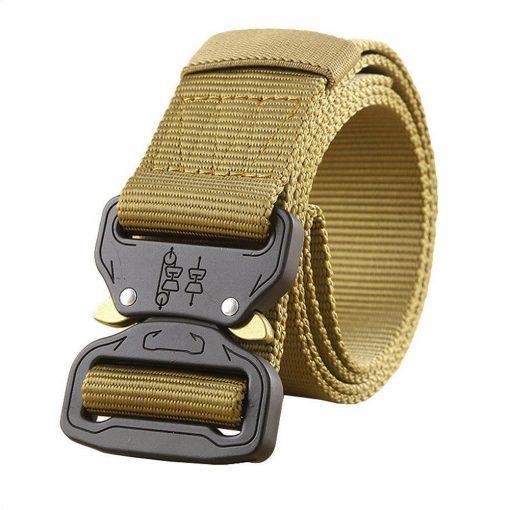 Quick release cobra style buckle nylon belt