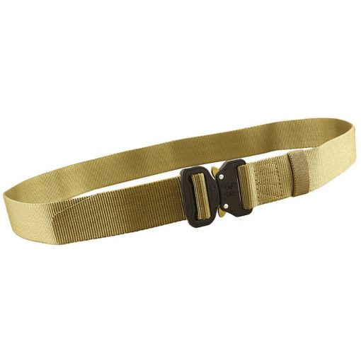 Quick release cobra style buckle nylon belt